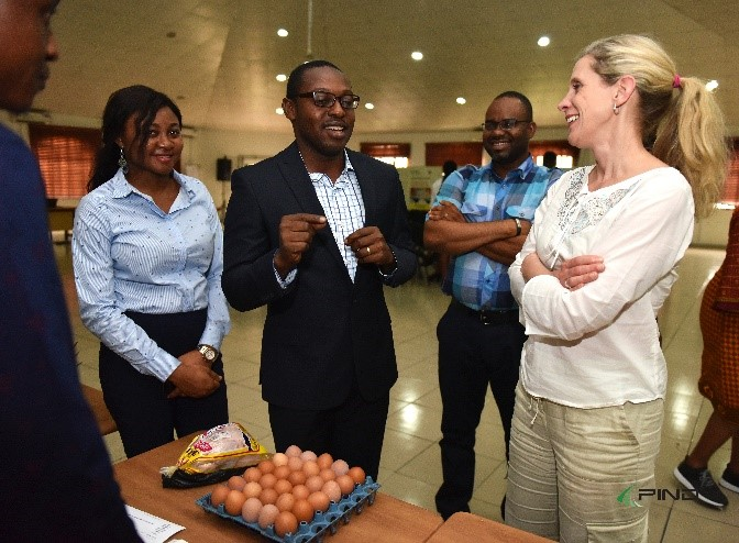 NDPI Executive Director Johanna Nesseth-Tuttle meets with PIND project leads in Nigeria.